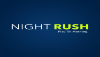 night rush logo blue