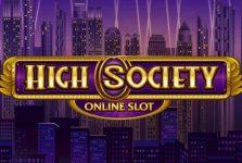 high society mobile slot logo