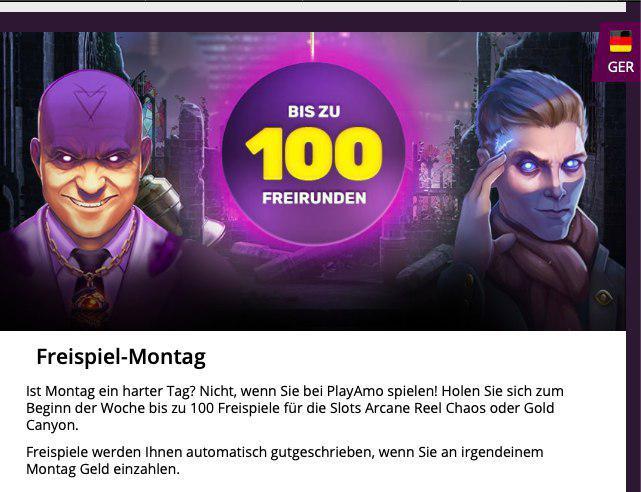 No deposit bonus Playamo Online Casino